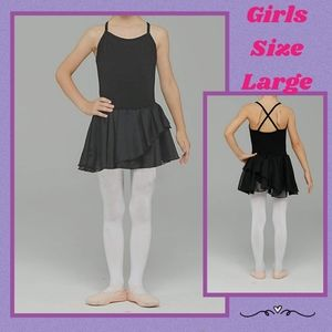 Other - Girls Black Ballet With Attached Skirt